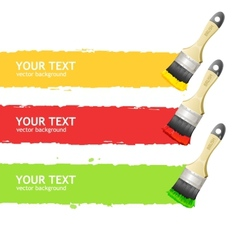 Brush speech headers menu vector