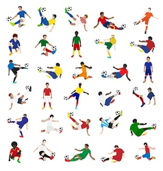 Collection of soccer players vector image vector image