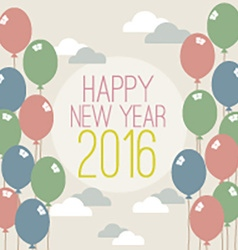 Happy New Year 2016 Vintage Style vector image vector image