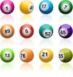 Lottery Bingo Background vector image vector image