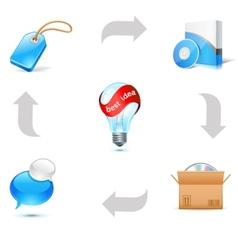 sales good scheme vector image vector image