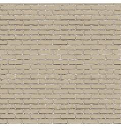 Seamless white brick wall vector image