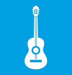classical guitar icon white vector image