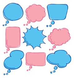 cute bubble speech vector image vector image