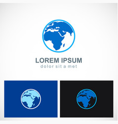 globe map round earth logo vector image