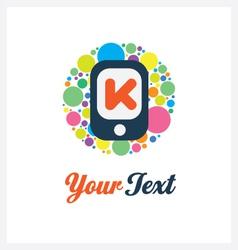 Mobile logo template vector image