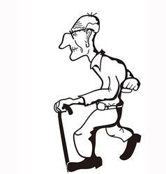 old man outline vector image