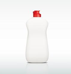plastic bottle of detergent vector image vector image