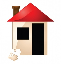 real estate missing piece vector image vector image