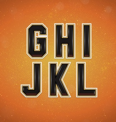 Sport style font from g to l vector
