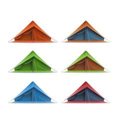 tourist tent set vector image