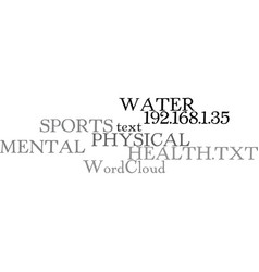 Water sports for physical and mental health text vector