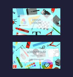 digital art design studio business card vector image vector image