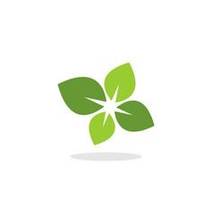 leaf logo vector image vector image