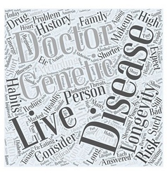 Longevity and healthy aging word cloud concept vector
