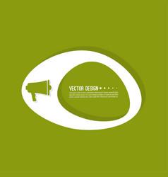 loudspeaker banner blank vector image vector image