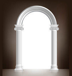 Realistic white arch vector image