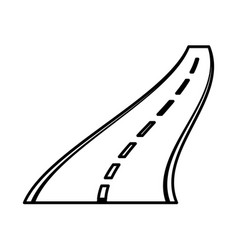 straight road isolated icon vector image vector image