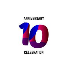 10 year anniversary celebration logo template vector