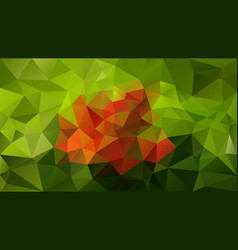 abstract irregular polygonal background green vector image