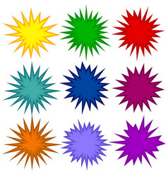 abstract spikey shape set vector image