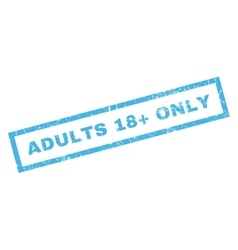 Adults 18 Plus Only Rubber Stamp vector