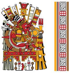 Ancient aztec god vector