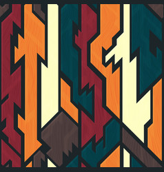 ancient geometric pattern with wood effect vector image