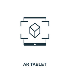 ar tablet icon mobile app printing web site vector image