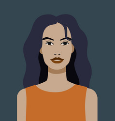 avatar beautiful girl model on dark vector image