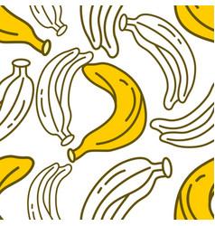 banana fruit pattern seamless template vector image