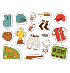 Baseball sport competition game team symbol vector