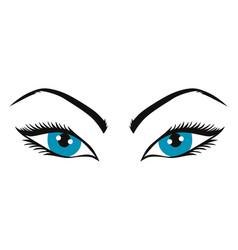 beautiful eyes vector image