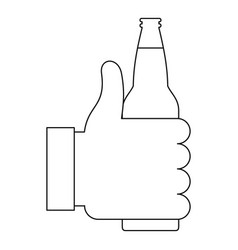 beer icon outline style vector image