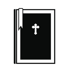 Bible book black simple icon vector