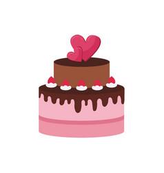 birthday cake logo vector image
