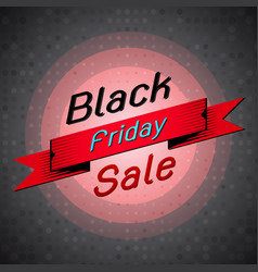 black friday sale banner on dots background vector image