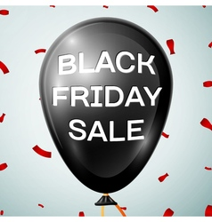 Black Friday Sale on Black Baloon over grey vector