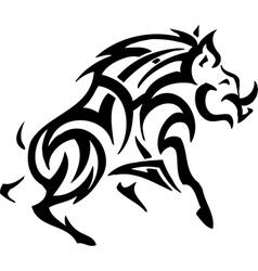 boar in tribal style vector image
