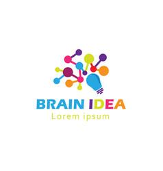 Brain logo creative brain logo vector