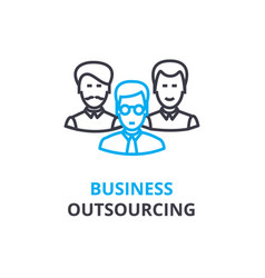business outsourcing concept outline icon vector image