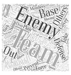 BWPW defensive tactics paintball Word Cloud vector image