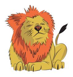 cartoon image of lion vector image