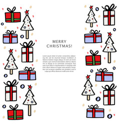 christmas banner template with christmas tree and vector image