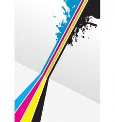 CMYK splashed vector image