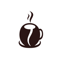 coffee cup logo design vector image
