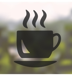 Coffee icon on blurred background vector