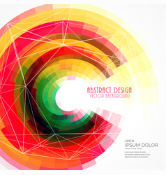 colorful abstract circle frame background vector image