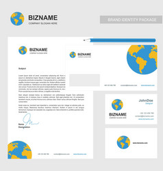 company brochure design with company card and vector image