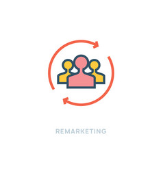 customer remarketing icon research vector image